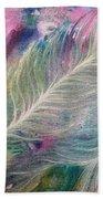 Peacock Feathers Pastel Bath Towel