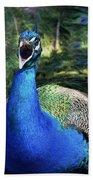 Peacocks Squawk Hand Towel