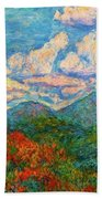 Peaks Of Otter In Fall Bath Towel by Kendall Kessler