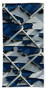 Pealing Paint Fence Abstract 1 Bath Towel