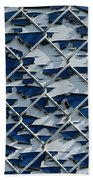 Pealing Paint Fence Abstract 3 Bath Towel