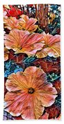 Peanies Flower Blossom Bath Towel