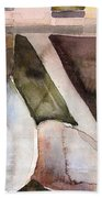 Pear Study In Watercolor Hand Towel