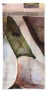 Pear Study In Watercolor Bath Towel