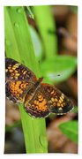 Pearl Crescent Butterfly Bath Towel