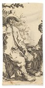 Peasant Couple At Rest Bath Towel