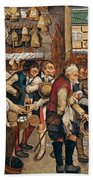 Peasants Paying Tithes By Pieter Bruegel I Bath Towel