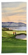 Pebble Beach Golf Course 9th Green Bath Towel