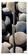 Pebbles And Cable Bath Towel