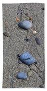 Pebbles Of Blue Bath Towel