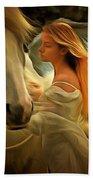 Pegasus Or Angel Bath Towel by Harry Warrick
