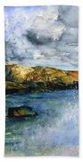 Peggy's Cove Lighthouse Landscape Bath Towel