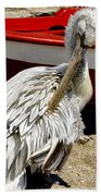 Pelican In Mykonos II Bath Towel