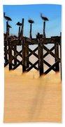 Pelican Pier Near Pass Christian - Mississippi Hand Towel