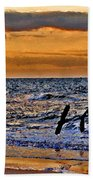 Pelicans Crusing The Coast Bath Towel