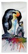 Penguin With Baby Bath Towel