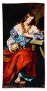 Penitent Mary Magdalene Hand Towel