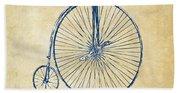 Penny-farthing 1867 High Wheeler Bicycle Vintage Bath Towel