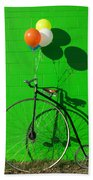 Penny Farthing Bike Bath Towel