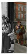 People - People Waiting For The Bus - 1943 - Side By Side Bath Towel