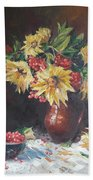Still-life With Sunflowers Hand Towel