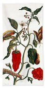 Pepper Plant Bath Towel