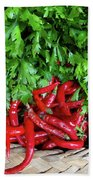 Peppers In A Basket Hand Towel