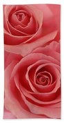 Perfect Pink Roses Bath Towel