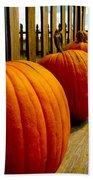 Perfect Row Of Pumpkins Bath Towel