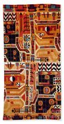 Peru: Tunic Fragment Bath Towel