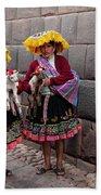 Peruvian Native Costumes  Bath Towel