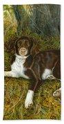 Pet Portrait - Springer Spaniel, Milly Bath Towel