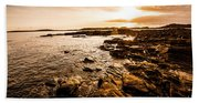 Petal Point Ocean Sunrise Hand Towel
