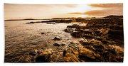Petal Point Ocean Sunrise Bath Towel
