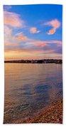 Petrcane Beach Golden Sunset View Bath Towel