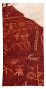 Petroglyphs Bath Towel
