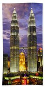 Petronas Towers Bath Towel