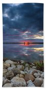 Pewaukee Lake Trail Bath Towel