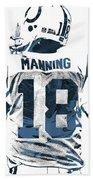 Peyton Manning Indianapolis Colts Pixel Art Bath Towel