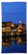 Philadelphia Art Museum - City Lights Bath Towel