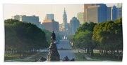 Philadelphia Benjamin Franklin Parkway Bath Towel