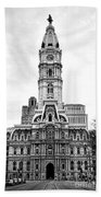 Philadelphia City Hall Building On Broad Street Bath Towel