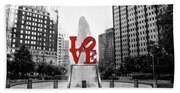 Philadelphia - Love Statue - Slective Coloring Hand Towel