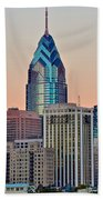 Philly At Sunset Hand Towel