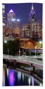 Philly In Panoramic View Bath Towel