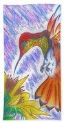 Phoenix Fire Hummingbird Bath Towel