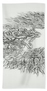 Phoenix Rising Sketch Bath Towel