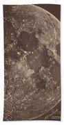 Photographie De La Lune A Son 1er Quartier Bath Towel