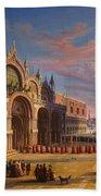 Piazza Di San Marco. Venice Bath Towel