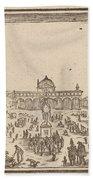 Piazza Ss. Annunziata, Florence Bath Towel